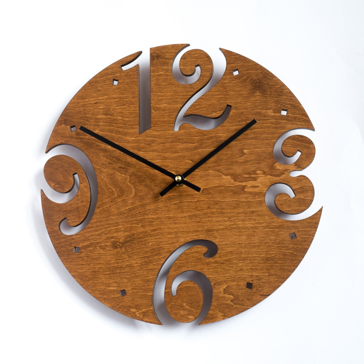 Large Wall Clock Unique Clock Modern Clock Wooden Wall