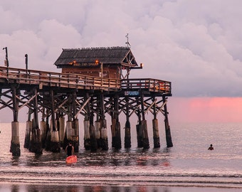 Pier Photography, Cocoa Beach, Florida, Florida Ocean Pier, East Coast, Color, Cocoa Beach Art