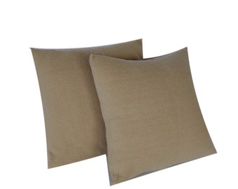 CushyChic Outdoor Slipcovers for Two Dining Pillow Backs in Sand