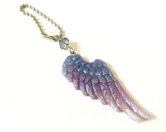 Angel wings charm pendant keychain zipperpull purse charms