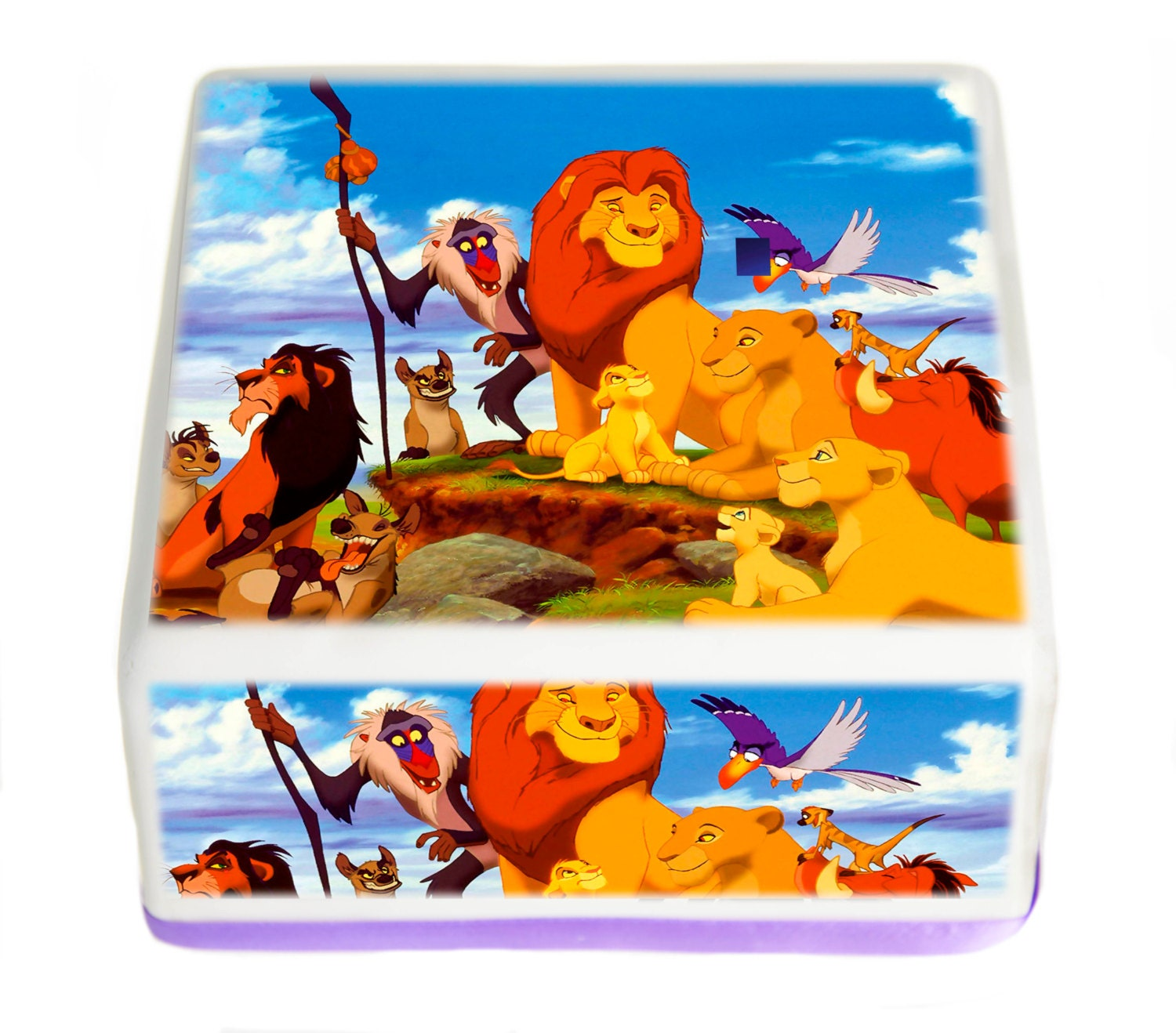 Edible Cake Images Lion King : Lion King Edible Square cake topper 7.5 Inch by ...