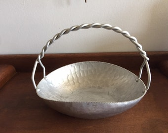 Vintage Hand Forged Hammered Bowl, Flying Ducks/Geese- Qty. 1