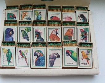 "Set of 18 boxes of Soviet safety matches ""Parrots"". Wooden matches. Big box safety matches. Sulfur matches. safety matches. USSR. parrots"