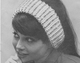 Vintage 1960's Crochet Headband Pattern