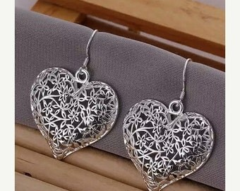 High Quality Silver Plated Drop Dangle Earrings
