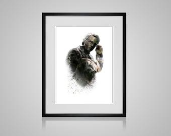 The Incredible Hulk Bruce Banner Mark Ruffalo Marvel Digital Fanart Ink-Blot Print Avengers Poster Gift Hanging Wall Art