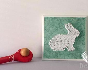 Framework, string art, baby shower, wall art, 3d art, nail art, baby shower, rabbit
