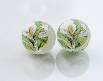 Japanise TENSHA beads 14 mm pair/5 pcs/10 pcs