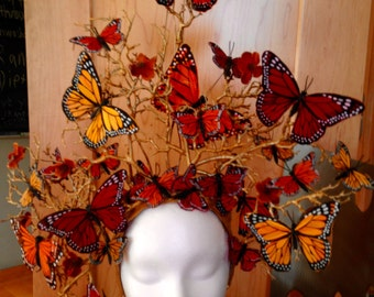 Summer butterfly headpiece