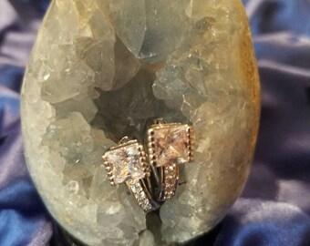 Glitter Night Earings Gift Look of Diamonds