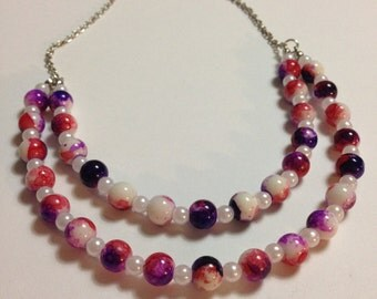 iCandy Dress-Up Girl's Necklace (Purple/Pink)