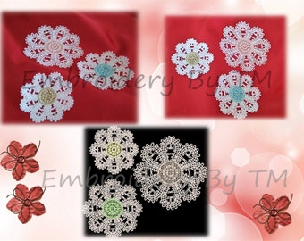 Flowers embroidery lace-FSL-three size