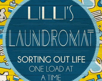 Custom Laundromat Sign Digital Download