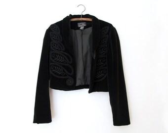 Black cropped jacket | Etsy