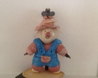 Salt dough scarecrow