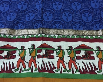 Pure cotton fabric set from Jaipur: tunic; scarf; pant, salwar or skirt