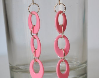 Earrings of parts of plastic