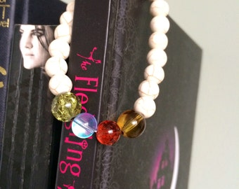 Elements: air, fire, water, earth stretchy bracelet