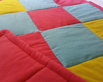 Small Quilt in Primary Colors