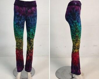 Rainbow Crinkle Yoga Pants Size XS