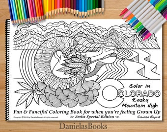 advanced coloring books for adults by danielasbooks color in colorado artist special rocky - Advanced Coloring Books For Adults