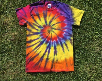 Sunset Tie Dye Spiral T Shirt