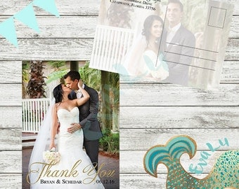 Custom Wedding Photo Thank You Card