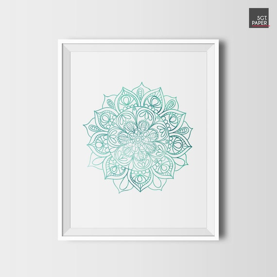 Mandala wall art lotus flower wall art zen decor printable