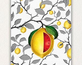 Canvas Water Lemon