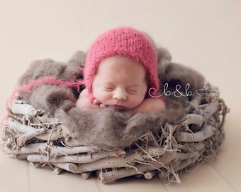root nest newborn  photo prop