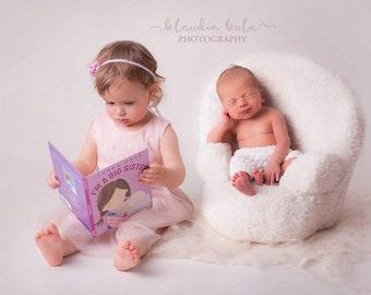 newborn posing chair photo prop
