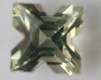 Prasiolite Gemstone 2.35cts g1122 Venus Cut 8.80 x 8.70mm Cut in Korea Loose Faceted Gemstone Jewelry Making Semi Precious Gem