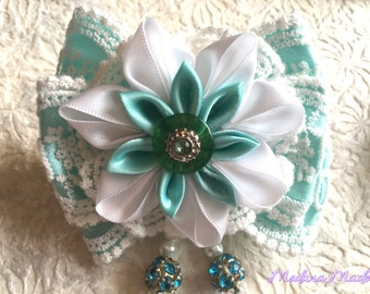 Hair Tie with Kanzashi Flowers