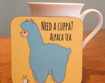 Alpaca Cup of Tea Coaster