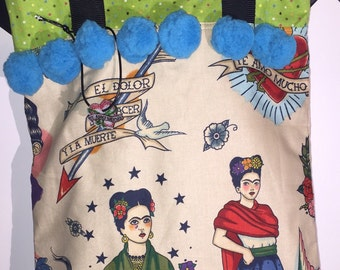 Frida kahlo Tote Bag and Pouch
