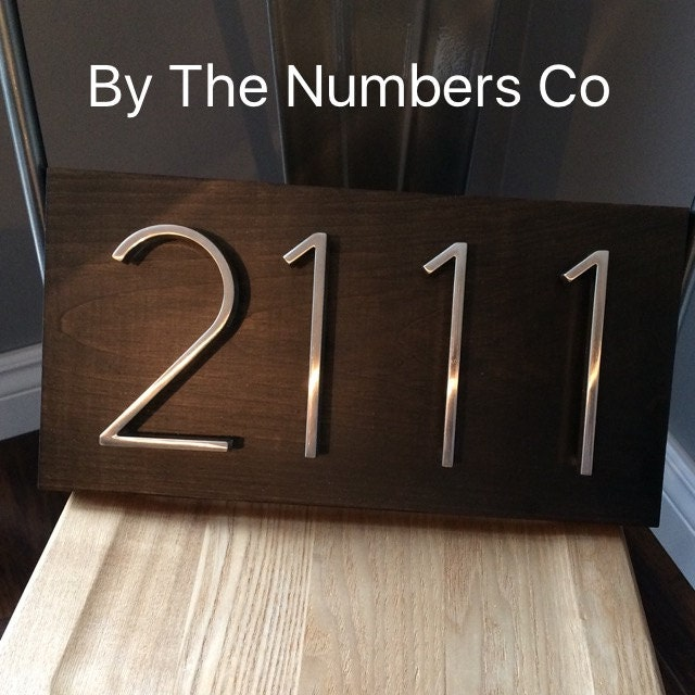 House Number Plaque House Number Address Sign Metal House