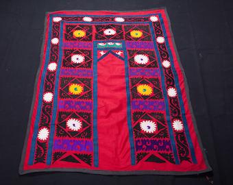 Vintage 1970's all cotton SUZANI 3'1''x 4'3''/ 93 x 130cm from SAMARKAND, Uzbekistan FREE Shipping No:010