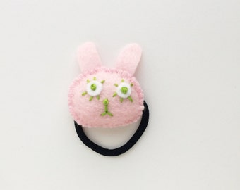 Bunny hair ties,hair accessory,felt ties