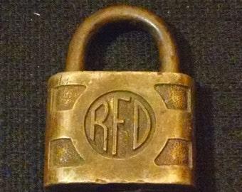 Antique  Padlock RFD Acme USA