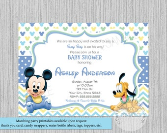 disney baby shower invitations  etsy, Baby shower invitations