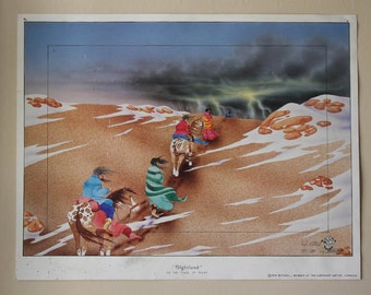 Nightland on the Trail of Tears Lithograph Signed Ron Mitchell
