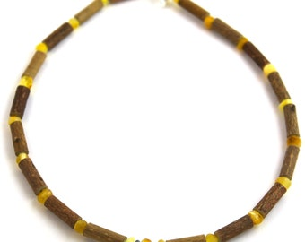 "11"" Hazelwood & Milk and Butter Baltic Amber Necklace"
