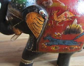 Rajasthani wooden handmade elephants painted with natural colours