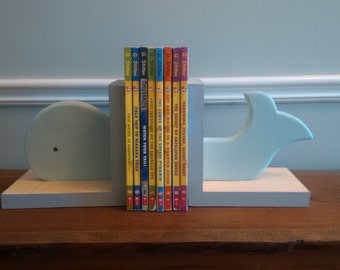 Wooden Whale Book Ends
