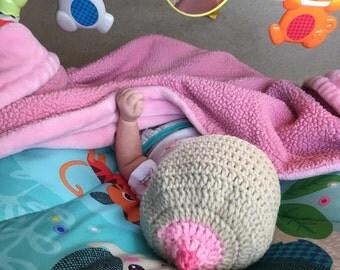 Boob crochet hat