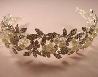 Pearl Leaf Crown Tiara