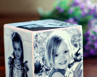 Custom Personalized Wooden Photo Cube
