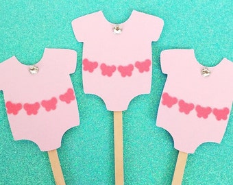 Butterfly Onesie Cupcake Toppers