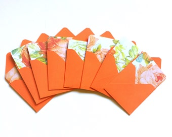 Mini cards, small note cards, lunchbox notes, gift tags, love notes, lunch notes, gift cards, bouquet cards, square cards, floral pattern