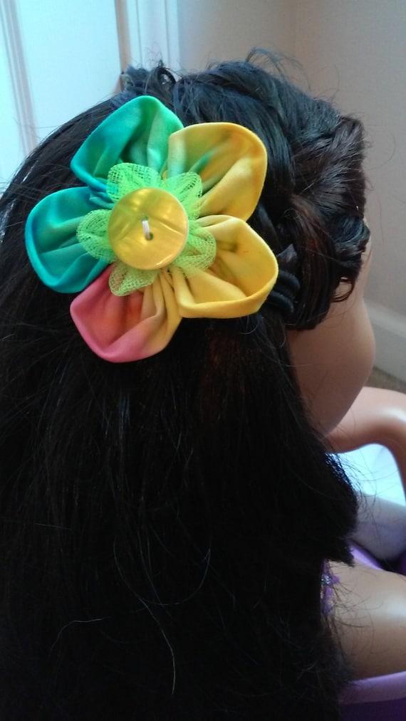 Flower Power Tye Dye Hair Flowers By Carlycreationstore On
